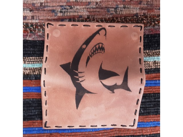 Tobacco case with shark design